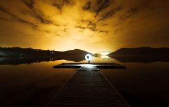 宇宙と人の光