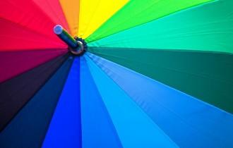 レインボーの傘