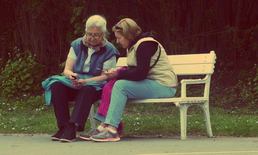 おばあさんが二人