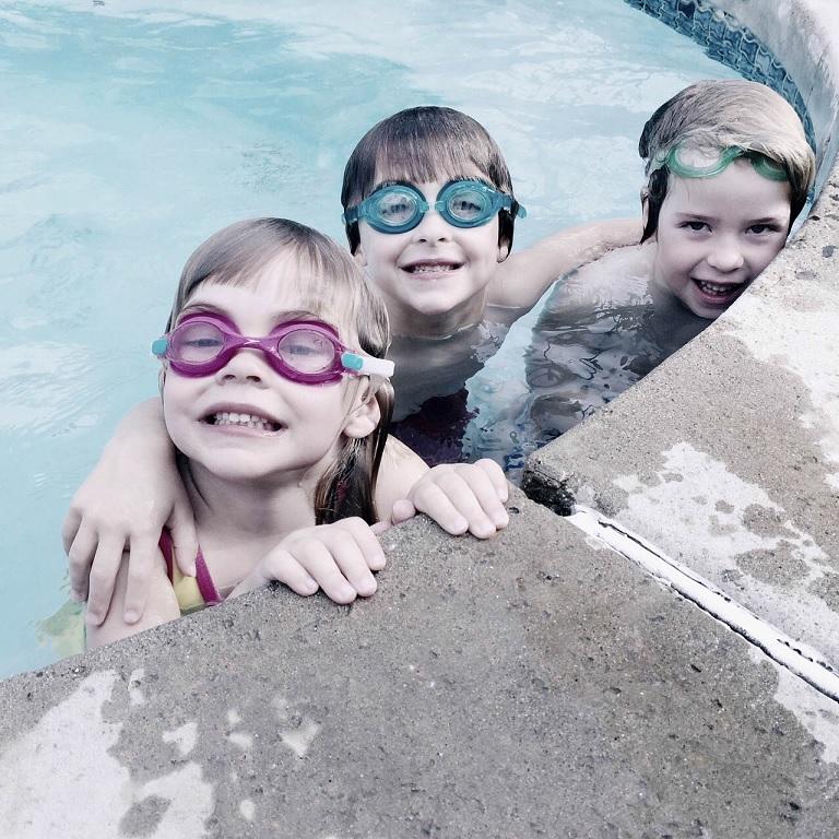 子供のプールの様子