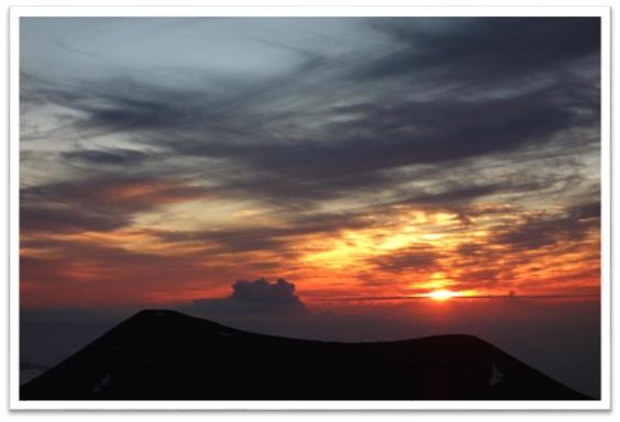 奇跡の旅inハワイ島2017マウナケアの夕日
